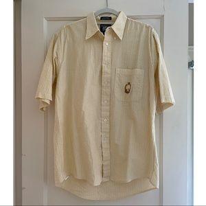 Vintage Burberry Button Down Seersucker Shirt
